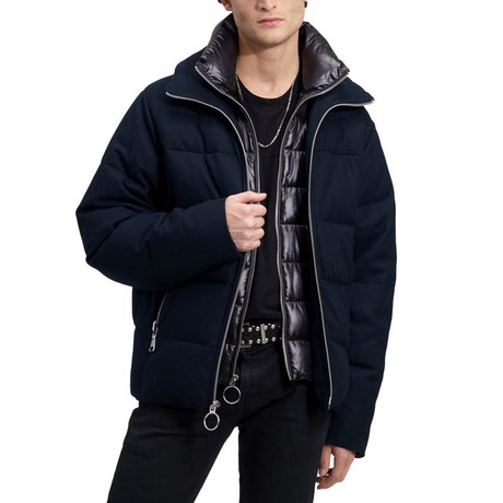 Down Wool Puffer // Navy (XS)