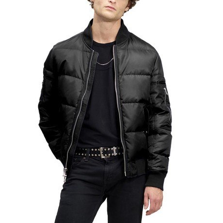 Down Quilted Bomber // Black (XS)