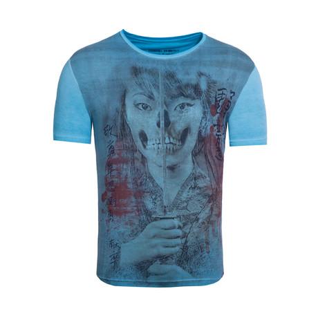 Geisha Skull T-Shirt // Mint (S)
