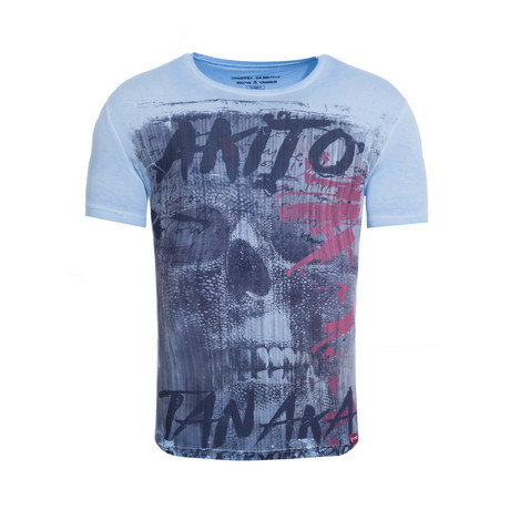 Fight For Skull T-Shirt // Turquoise (S)