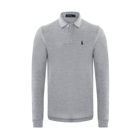 Long Sleeve Polo Shirt // Gray (S)