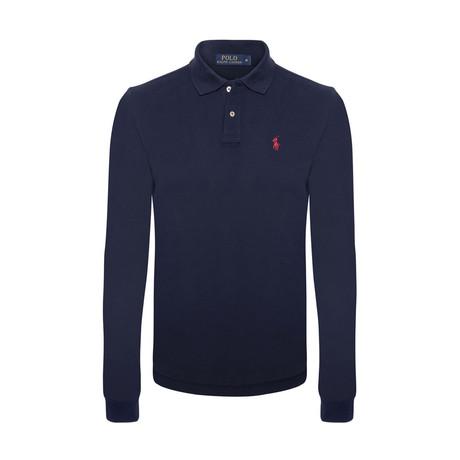 Long Sleeve Polo Shirt // Navy (S)