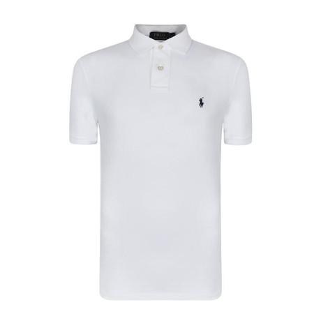 Mesh Polo Shirt // White (S)