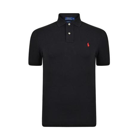 Mesh Polo Shirt // Black (S)