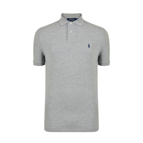Mesh Polo Shirt // Gray (S)