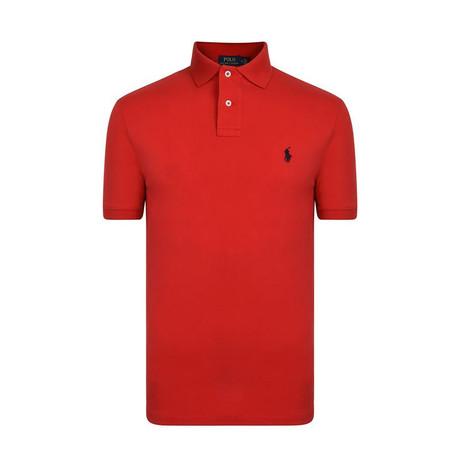 Mesh Polo Shirt // Red (S)