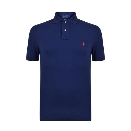 Mesh Polo Shirt // Navy (S)