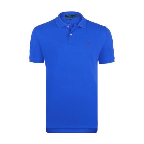 Mesh Polo Shirt // Royal Blue (S)