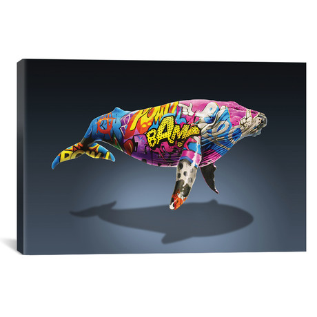 "Tagged Whale // James Ormiston (26""W x 18""H x 0.75""D)"