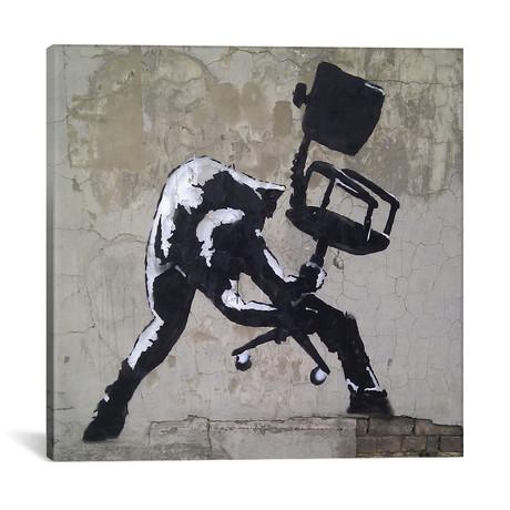 "London Calling // Unknown Artist (18""W x 18""H x 0.75""D)"
