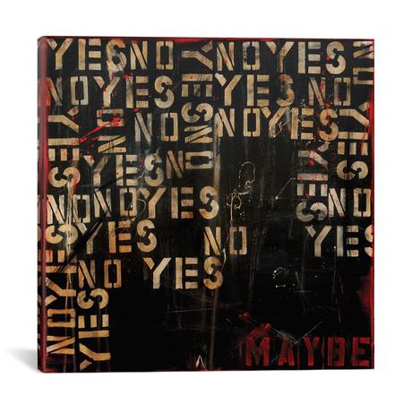 "Yes, No, Maybe? // Erin Ashley (18""W x 18""H x 0.75""D)"