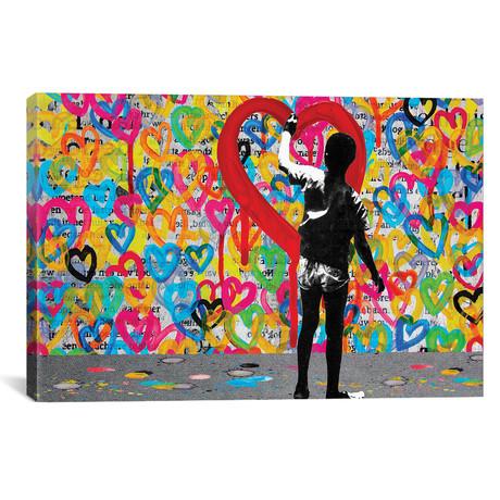 """Hearts // DB Waterman (26""""W x 18""""H x 0.75""""D)"""