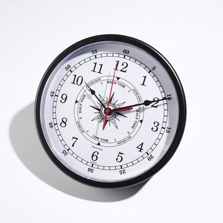 "Atlantic Marine Time + Tide Clock // White (10""Dia)"