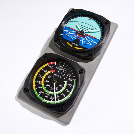 Classic Horizon-Airspeed Clock + Thermometer Set