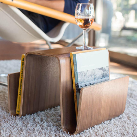 Saddlebag Table // Walnut