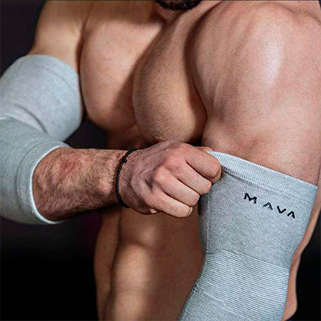 Bamboo Elbow Support // Pack of 2 // Gray (Small)
