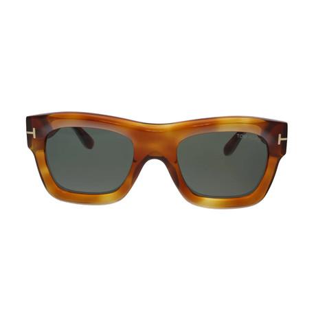 Men's Wagner Sunglasses // Tortoise + Green