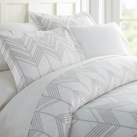 Superior Softness Patterned Duvet Set // 3 Piece // Classic Chevron (Queen)