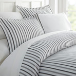 Superior Softness Patterned Duvet Cover Set // 3 Piece // Variety Stripe (Twin)
