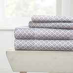 Superior Softness Patterned Sheet Set // 4 Piece // Solaris (Twin)