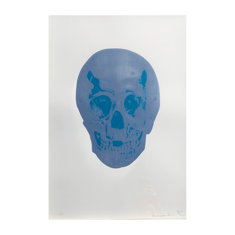 Damien Hirst // The Dead (Silver Gloss/Topaz Skull) // 2009