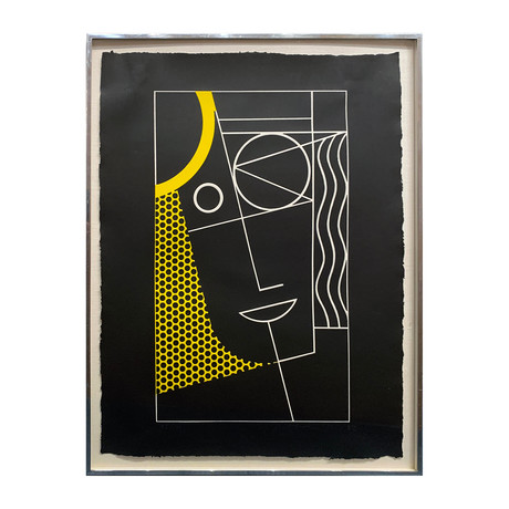 Roy Lichtenstein // Modern Head #2 from Modern Head Series // 1970