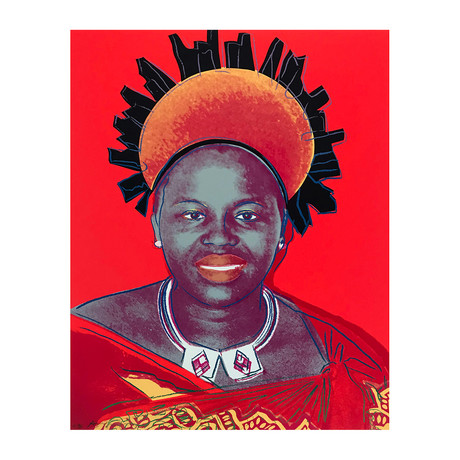 Andy Warhol // Reigning Queens (Royal Edition): Queen Ntombi Twala of Swaziland IIA.349 // 1985