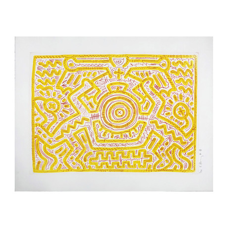 Keith Haring // Untitled (A) // 1985