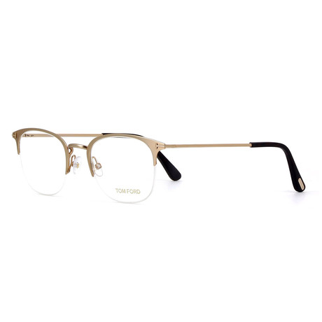 Unisex Rectangular Eyeglasses // Gold
