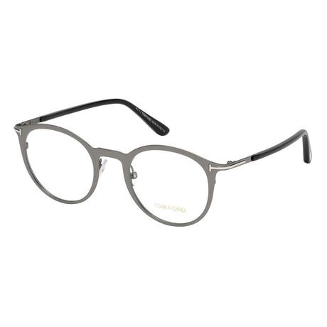 Unisex Round Eyeglasses // Silver