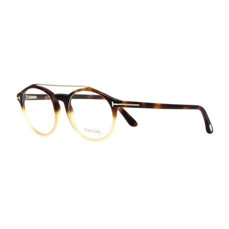 Unisex Round Eyeglasses // Dark Havana