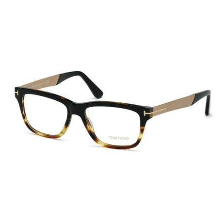 Unisex Rectangular Eyeglasses // Black Havana