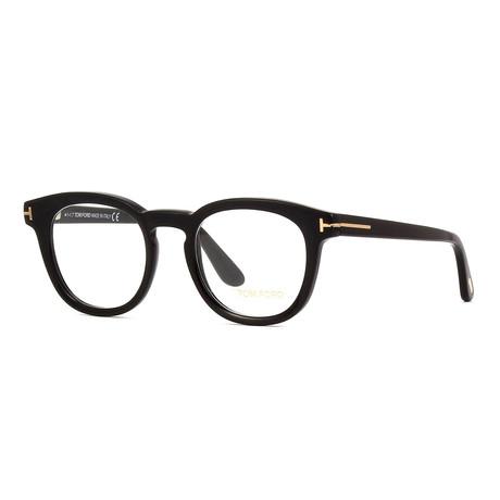 Unisex Round Eyeglasses // Black II