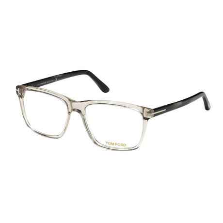 Unisex Rectangular Eyeglasses // Gray Clear