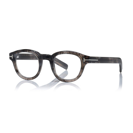 Unisex Round Eyeglasses // Black + Clear