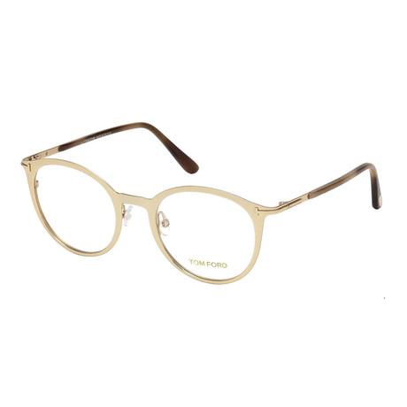 Unisex Round Eyeglasses // Gold
