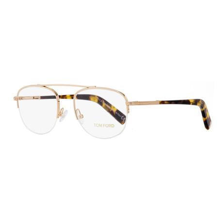 Unisex Aviator Eyeglasses // Gold Tortoise