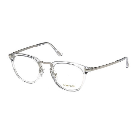 Unisex Round Eyeglasses // Silver Clear