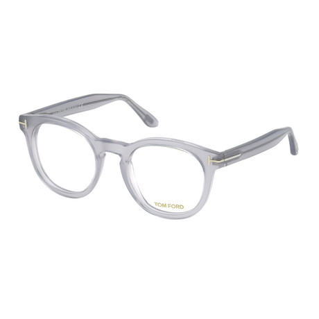 Unisex Round Eyeglasses // Gray Clear