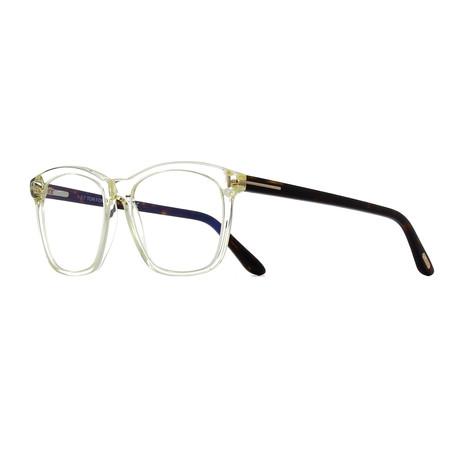Unisex Square Eyeglasses // Clear Tortoise