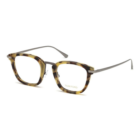 Unisex Square Eyeglasses // Tortoise Silver