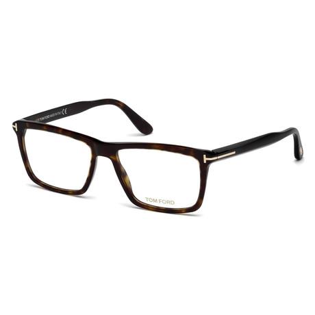 Unisex Rectangular Eyeglasses // Tortoise II