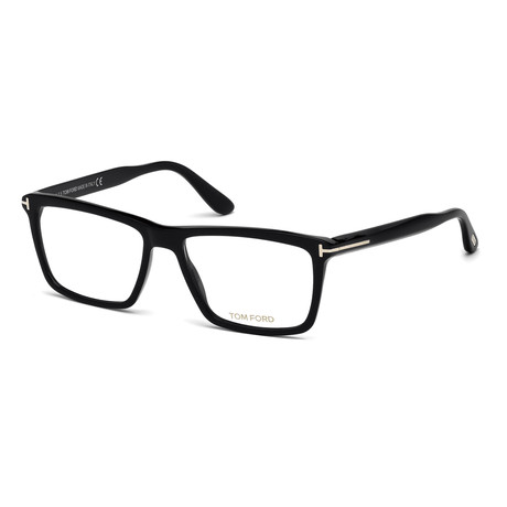 Unisex Rectangular Eyeglasses // Black