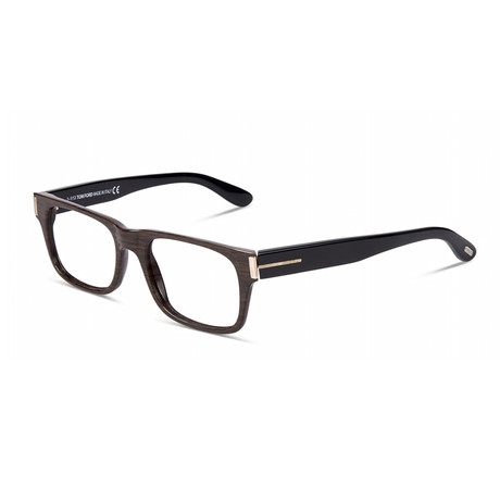 Unisex Rectangular Eyeglasses // Black Brown