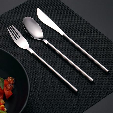 3 Piece Cutlery Set // Gray + Silver