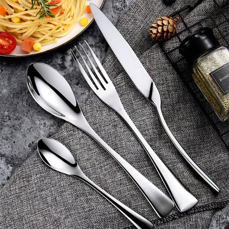 Manhattan Collection 4 Piece Cutlery Set // Silver