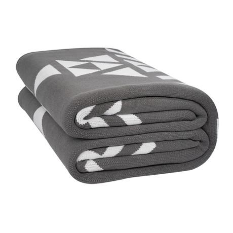 The Woven Big Blanket // Gray Geometric