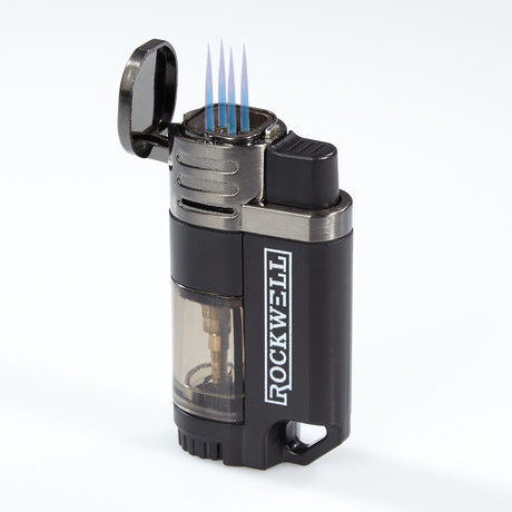 Rockwell Quad Torch Lighter (Black)