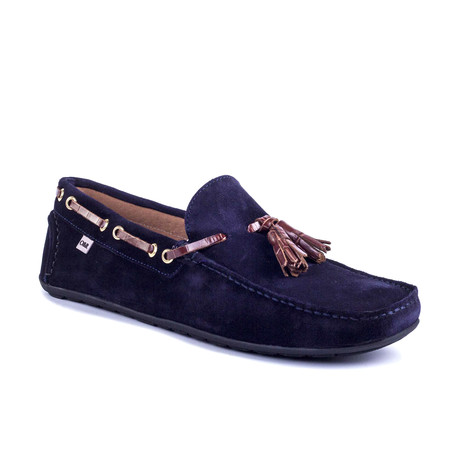 Secorla Leather Moccasin // Blue (Euro: 39)