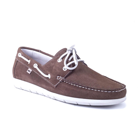 Nobita Nubuck Boat Shoe // Brown (Euro: 39)